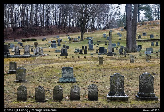Cemetery. Walpole, New Hampshire, USA (color)