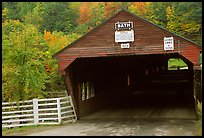 Covered bridge, Bath. New Hampshire, USA (color)