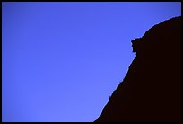 Profile of old man of the mountain, Franconia Notch State Park. New Hampshire, USA ( color)
