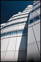 Looking up facade of IAC building. NYC, New York, USA ( color)