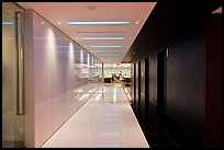 Corridor, Bloomberg Tower. NYC, New York, USA (color)
