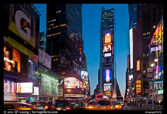 Times Square at dusk. NYC, New York, USA (color)