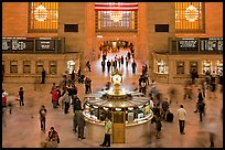 Information booth, Grand Central Station. NYC, New York, USA ( color)