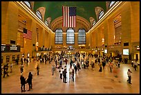 Main Concourse, Grand Central Terminal. NYC, New York, USA (color)