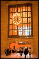 Gate and chandelier, Grand Central Terminal. NYC, New York, USA ( color)