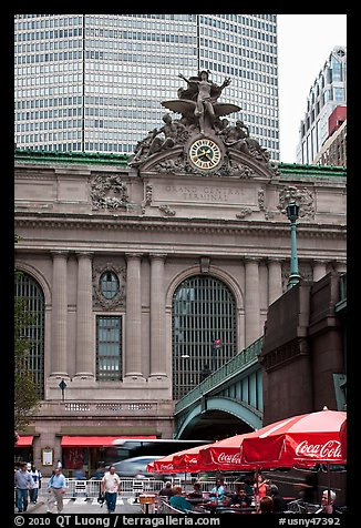 Outside Grand Central Terminal. NYC, New York, USA (color)