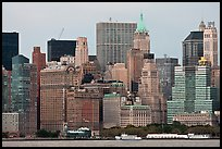 Lower Manhattan skyline,. NYC, New York, USA ( color)