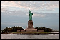 Liberty Island with Statue of Liberty. NYC, New York, USA ( color)