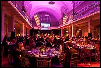 Gala dinner inside Main Building, Ellis Island. NYC, New York, USA ( color)