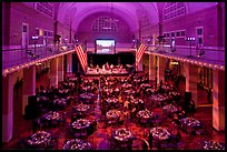 Gala, Great Hall of Immigration Museum, Ellis Island. NYC, New York, USA ( color)