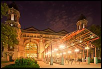 Main Building by night, Ellis Island. NYC, New York, USA