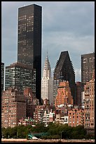 Trump World Tower and Chrysler Building. NYC, New York, USA ( color)