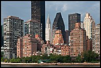Manhattan skyline from Roosevelt Island, morning. NYC, New York, USA ( color)