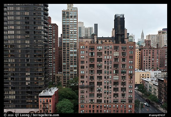 High rise buildings, Manhattan. NYC, New York, USA (color)