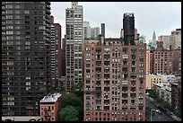 High rise buildings, Manhattan. NYC, New York, USA ( color)