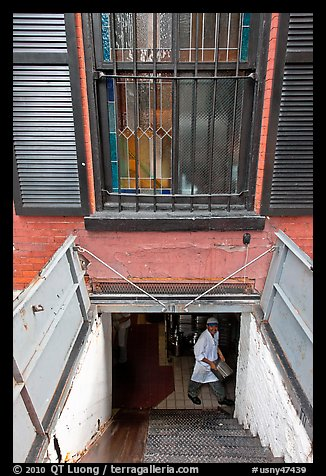 Picture photo restaurant basement seen from street nyc for American cuisine restaurants in nyc