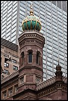 Central synagogue dome. NYC, New York, USA ( color)