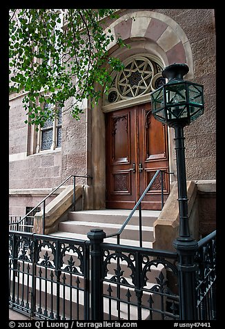 Central synagogue door. NYC, New York, USA (color)