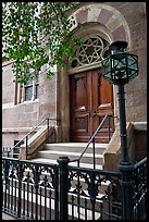 Central synagogue door. NYC, New York, USA ( color)