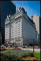 Grand Army Plaza and Plaza Hotel. NYC, New York, USA (color)