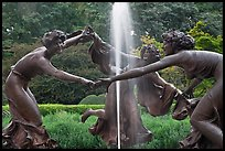 Three Dancing Maidens sculpture and fountain, Central Park. NYC, New York, USA ( color)