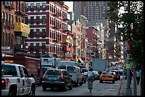Bowery street. NYC, New York, USA ( color)