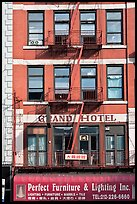 Facade detail, Bowery Hotel. NYC, New York, USA ( color)