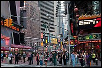 Times Squares area. NYC, New York, USA (color)