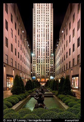 Rockefeller center by night. NYC, New York, USA