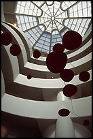Interior of the Guggenheim Museum. NYC, New York, USA (color)