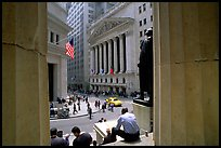Wall Street stock exchange (NYSE). NYC, New York, USA ( color)