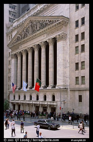 New York Stock Exchange. NYC, New York, USA (color)