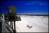Sandy beach, Long Beach. Long Island, New York, USA (color)