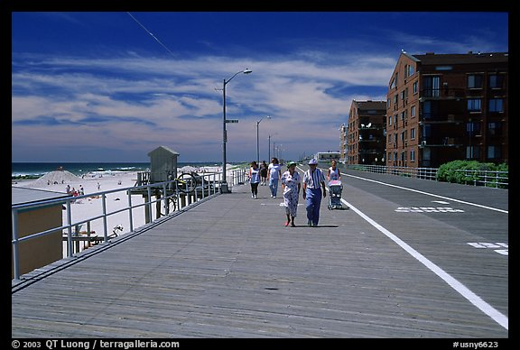 Boardwalk on Long Beach. Long Island, New York, USA