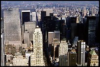 Upper Manhattan, Looking north from the Empire State building. NYC, New York, USA