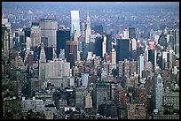 Forest of skycrapers of Upper Manhattan, seen from the World Trade Center. NYC, New York, USA