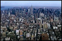 Midtown and Upper Manhattan, seen from the World Trade Center. NYC, New York, USA (color)