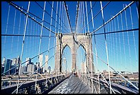 Brooklyn Bridge. NYC, New York, USA (color)