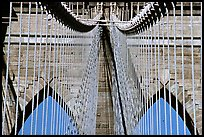 Brooklyn Bridge detail. NYC, New York, USA ( color)