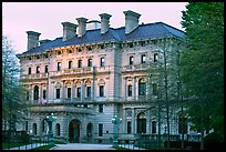 Breakers mansion, largest in Newport, at dusk. Newport, Rhode Island, USA ( color)