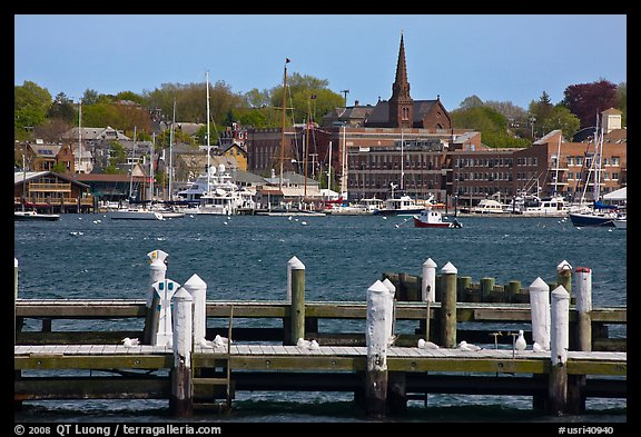 Harbor and waterfront. Newport, Rhode Island, USA (color)