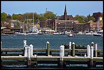 Harbor and waterfront. Newport, Rhode Island, USA ( color)