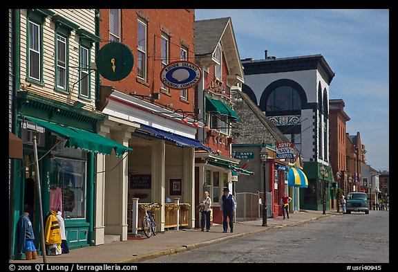 Street with old buildings. Newport, Rhode Island, USA (color)