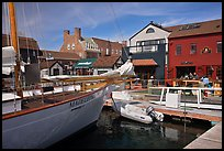 Harbor and shops. Newport, Rhode Island, USA ( color)