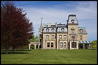 Chateau-sur-Mer mansion in Victorian style, viewed from lawn. Newport, Rhode Island, USA