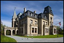 Chateau-sur-Mer, the first of Newport palatial summer mansions. Newport, Rhode Island, USA (color)