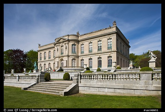 The Elms, mansion in classical revival style. Newport, Rhode Island, USA (color)