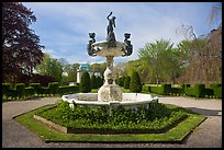 Fountain, The Elms. Newport, Rhode Island, USA ( color)