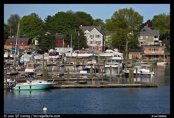 Recreational harbor on the Providence River. Providence, Rhode Island, USA (color)