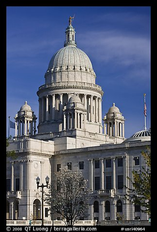 Rhode Island State House, with fourth largest marble dome in the world. Providence, Rhode Island, USA (color)